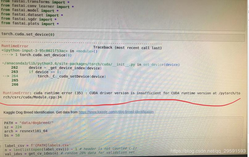 ubuntu - docker cuda error: cuda driver version is ...